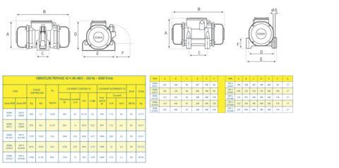 Vibrateurs Electriques Somai VEM6-VEP6